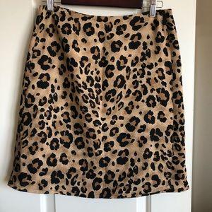 Dresses & Skirts - Leopard print wrap skirt sz M - L